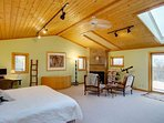Vaulted Ceilings, Sky Light and Great Views from the Caretaker Suite