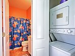 You'll love the convenience of the in-unit laundry machines.