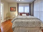 The split bedroom arrangement is ideal for 2 couples travelling together.