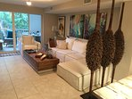 Designer Luxurious Upstairs Living Room, TV with Bluray Player and Balcony