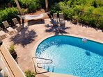 28x15 Private Salt Water Pool! Overlooks the lake, has lounge chairs and a Hammock!