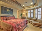 The heads of the household will sleep like royalty in this California king-sized bed.