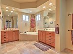 The master suite provides plenty of space to get ready in the mornings.