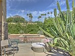 Enjoy spectacular mountain views from the patio!