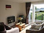 Holkham Cottage's sunny lounge area