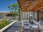Villa Hamsa - Open living spaces