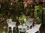enjoy drinking tea outdoors on a lazy sunny afternoon...