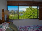 Spectacular mountain and ocean views from bedroom #1