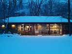 No matter the season, the cabin is cozy and comfortable.