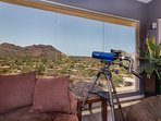 Awesome views from guest house with windows that wrap around the living area
