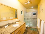 One of two identical bathrooms in the casitas