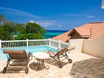 Enjoy the private pool and view on the deck