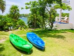 Take the kayaks out for a snorkel adventure!