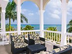 Relax and enjoy a good conversation with a beach view.
