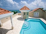 Skytop deck with private pool for this unit