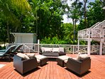 Pool deck lounge area