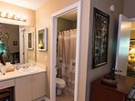 Vanity for master bath and separate toilet/shower room