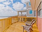 Enjoy Relaxing on the Beach Front Deck