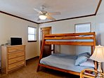 The Guest Bedroom has a Full/Twin Bunk