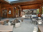 Shared Clubhouse with patio and fire pit