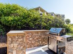 NEWLY built grilling area at Martinique