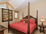 Master bedroom with king located on main level