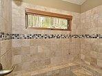 Large second bathroom shower