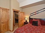 Third bedroom with full bed located on the upper level