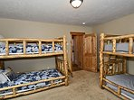 Fifth bedroom bunk room located on the lower level