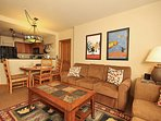 Open floor plan gives this condo a welcoming feel