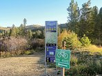 Take a nice quiet walk down the Fraser River Trail access from your doorstep