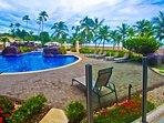 Poolview balcony