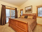 Master bedroom with king located on the main level