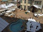Huge shared hot tub on amenity deck