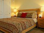 Comfy king bed