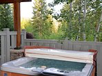 Relax after a long day in your private hot tub