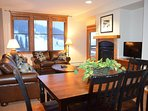 Open floor plan, see slopes from every room!