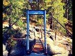 The Swinging Bridge in fall