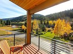 Main level deck with views of the slopes at Winter Park Resort