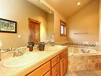 Second master bathroom with jacuzzi tub
