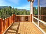 Main level deck deck with slope views