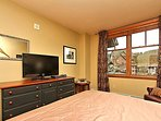 Catch up on your favorite shows on the flat screen TV in Master bedroom