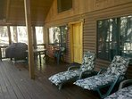 Relax on the deck.  Covered for year round BBQs.