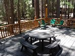 Front deck picnic table
