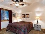 Bedroom 3 with queen bed & TV - upstairs