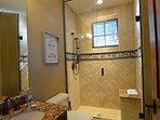 Attached third master bathroom