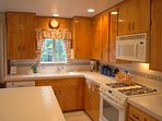 Kitchen fully equipped and ready to use.
