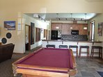 Clubhouse has pool table and hang out areas for your use
