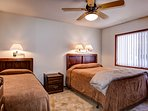 Bedroom 2 with a queen and twin bed