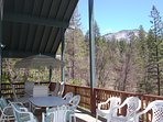 The view from our front deck of the gorgeous Wawona Dome (summer view)